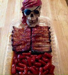 Halloween ribs & links