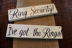 signs for ring bearers ring security set of 2 by ArtsyQuotes, $29.99