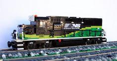 NS GP33ECO Norfolk Southern #lego #train #brickadelics #moc