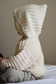 Free Knitting Pattern - Toddler & Children's Clothes: Garter Ridge Hoodie