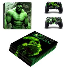 The Incredible Hulk Ps4 pro edition skin decal for console and controllers