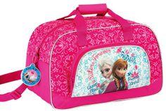 Mochila de deporte Elsa y Anna. Frozen: El Reino el Hielo 40x24x23cm Preciosa mochila de deporte con la imagen de las dos hermanas Elsa y Anna, de la película Frozen: El Reino del Hielo.