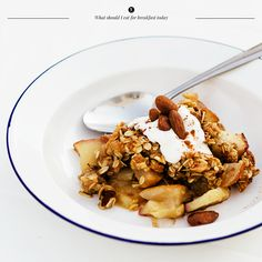 Apple breakfast crisp: wish my family liked this sort of food!
