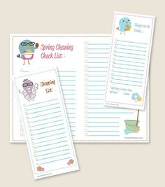 Shopping list, things to do #printables