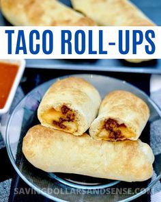 These Taco Roll-Ups are super handy and delicious to have as a quick snack or an easy meal. Perfect for busy nights when everyone's on the go or great for a fun and unique Taco Tuesday. Dinners For Kids, Kids Meals, Easy Meals, Beef Recipes For Dinner, Cooking Recipes, Taco Roll Ups, Roll Ups Recipes, Healthy School Lunches, Toddler Snacks