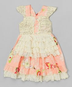 Look at this Petal Pink Reagan Apron Dress - Infant, Toddler & Girls on #zulily today!