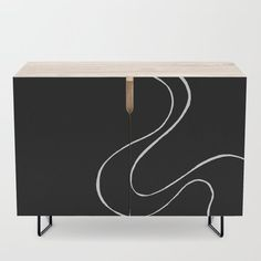 Ebb and Flow 3 - Black on White Credenza by laec | Society6 Ebb, Wood Finish, Furniture, Interior, White Credenza, Bedroom Set, Credenza, Office Cabinets, White