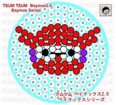 tsum tsum perler template baymax2.0