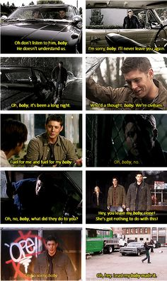 [GIFSET] Dean's love for Baby through the seasons....