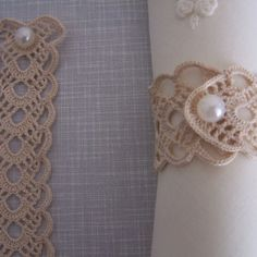 Your place to buy and sell all things handmade crochet napkin rings by on Etsy Filet Crochet, Knit Crochet, Diy Rings, Diy Lace Napkin Rings, Napkin Folding, Crochet Accessories, Crochet Projects, Tatting, Diy And Crafts