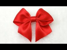 Make Simple Easy Bow, DIY, Ribbon Hair Bow, Tutorial, Bow #3 - YouTube