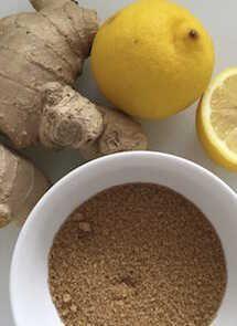 Sorbete de ginger ale