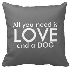 Customized Funny Retro All You need is Love and a Dog Unique Pillowslip Zippered Pillowcase Luxury Twin Sides Print #Affiliate