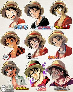 A Lot Of manga And Anime Drawing Styles One Piece Anime, One Piece Fanart, Anime One, Otaku Anime, Anime Guys, Manga Anime, Male Manga, Manga Boy, Art Style Challenge