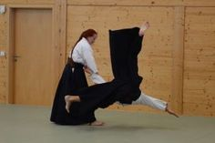 Aikido Lehrgang des österreichischen Aikidoverbands im Budokan Wels, Oktober 2013 - Kokyonage