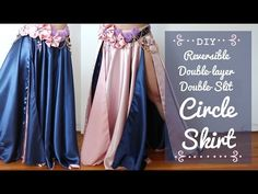 DIY Circle Skirt for dancers! [reversible & double-layer & double-slit] - SPARKLY BELLY
