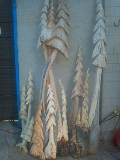 carved trees