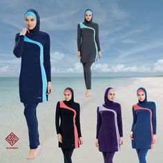 4c3220fde9260 AlHamra Shangrila Modest Burkini Swimwear Swimsuit Muslim Islamic Sportwear  in Sporting Goods