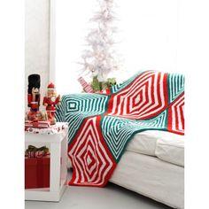 Mitered Christmas Blanket