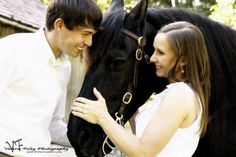Loved this engagement session with thier horses!