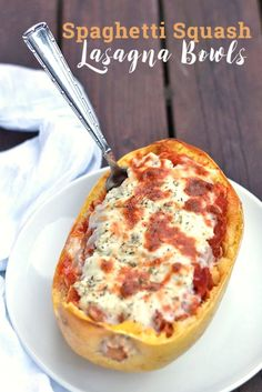 Spaghetti Squash Lasagna Bowls - an amazing hearty, delicious dinner that's a wonderful gluten free alternative to traditional lasagna!