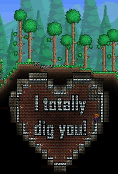 #4 of 4 Terraria Valentine Printables I put together for my son.