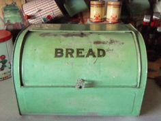 I am on the hunt for a vintage bread box