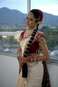 South Indian Bride #saree