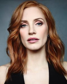 jessica chastain - movie and tv star Jessica Chastain, Fair Skin Makeup, Hair Makeup, Hollywood, Redhead Makeup, Strawberry Blonde, Pale Skin, Tips Belleza, Ginger Hair