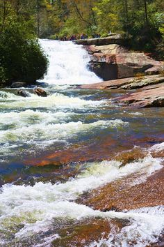 Arriving early for your wedding? Visit Asheville Waterfalls: Triple Falls in Dupont State Forest, near Asheville, NC Asheville North Carolina, Camping In North Carolina, North Carolina Mountains, Asheville Nc, Great Places, Places To See, Amazing Places, Beautiful Places, Asheville Waterfalls