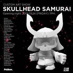 "Pobber Toys's ""Skullhead Samurai"" Custom Art Show at FLABSLAB!"