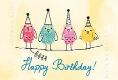 Happy Birthday! - Mini Cards - Grafik Werkstatt Bielefeld