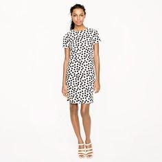 Scattered dot shift dress // J. Crew