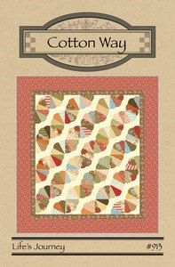 Life's Journey quilt pattern, #913, Cotton Way by QuiltiliciousFabric on Etsy