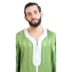 Muslim Men Clothing, Beige, Grey, Goldfish, Morocco, Delicate, Pure Products, Embroidery, Cotton