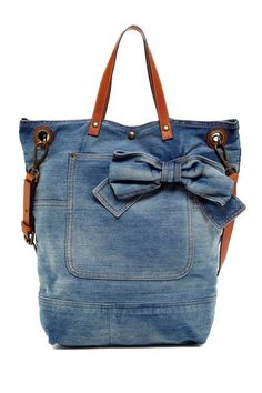 RED Valentino Denim Bow Shoulder Bag by RED Valentino Handbags on @HauteLook