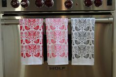 A bit pricey for a favor, but a custom order of these sweet bird tea towels set of 3 by dutchdoor on Etsy, $30.00 might be just the thing for a shower celebrating a mom-to-be who spends lots of time in the kitchen.