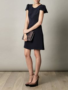Goat Lori puff-sleeve dress