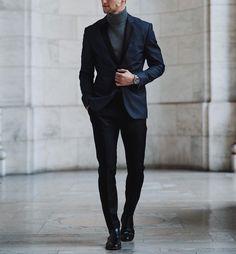 Suit and turtleneck by @marcelfloruss ✨ [ www.RoyalFashionist.com ]