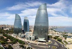 Baku Flame Towers by HOK . Image © Farid Khayrulin