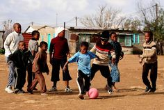 I choose this picture because when I think of Africa I think of kids always playing soccer.