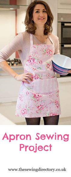 Sew this easy apron project - perfect for a Mother's Day gift!