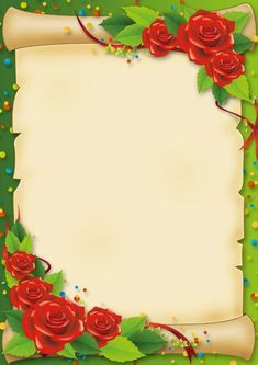 parchemins - Page 26 Frame Border Design, Boarder Designs, Page Borders Design, Rose Frame, Flower Frame, Frame Background, Paper Background, Boarders And Frames, School Frame