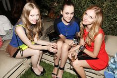 Carolina Engman, Andy Torres and Chiara Ferragni at the party