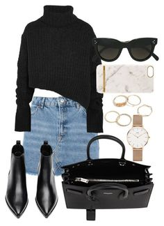 """Untitled #363"" by sineadelhardt ❤ liked on Polyvore featuring Topshop, Ann Demeulemeester, Acne Studios, Yves Saint Laurent, CÉLINE, Richmond & Finch and Daniel Wellington"