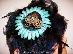 Annie Hair Flower - Now available at www.darecrafts.com. #hairflower #hairaccessories #hairflowerclip #steampunkaccessories