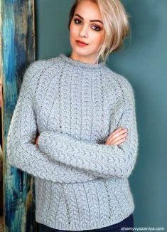 Пуловер узором из кос от Vibe Ulrik