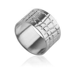 Unisex Wedding Ring, Wide Wedding Ring, Narrow Wedding Ring, His & Hers Silver Wedding Rings, Silver Wedding Band, Pattern Wedding Ring  #perfectring  http://www.liatwaldman.com/205527/Romance