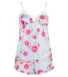 Peter Alexander-Aqua Rose PJ Shortie Set http://www.peteralexander.com.au/PA_navIWCatProductPage.process?Section_Id=2267_Id=1839820=Women=PJ+Sets