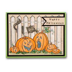 Picket Pumpkins Halloween Stamped Card